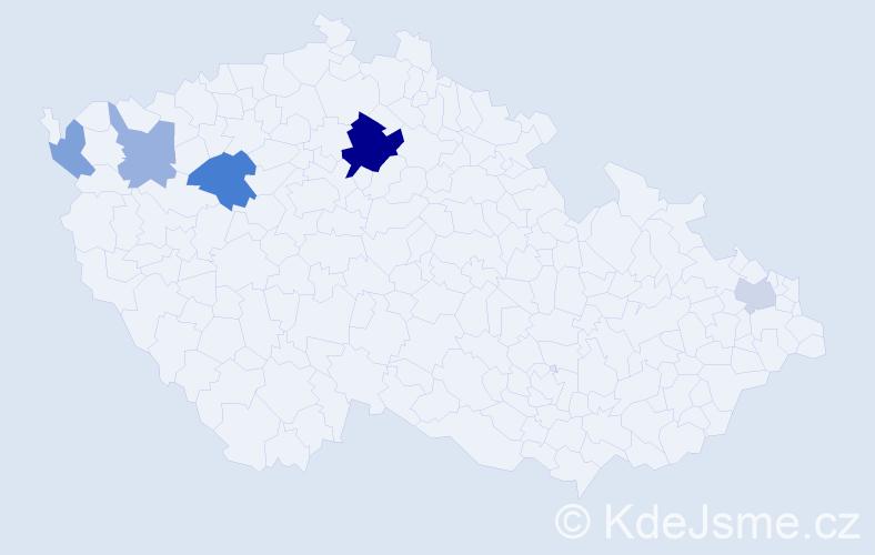 Příjmení: 'Barthel', počet výskytů 11 v celé ČR