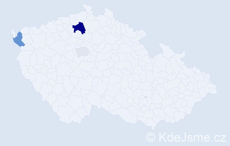 Příjmení: 'Brandon', počet výskytů 5 v celé ČR