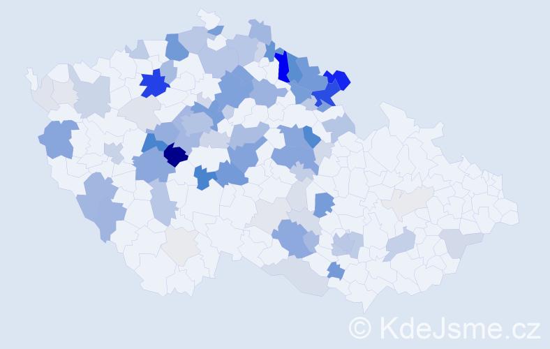 Příjmení: 'Jarý', počet výskytů 334 v celé ČR
