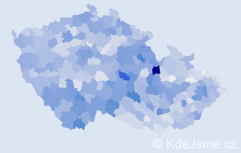Příjmení: 'Marková', počet výskytů 11742 v celé ČR