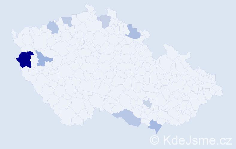 Příjmení: 'Loyová', počet výskytů 13 v celé ČR
