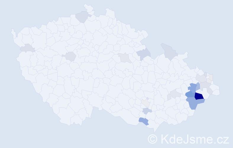 Příjmení: 'Hatlapatka', počet výskytů 94 v celé ČR