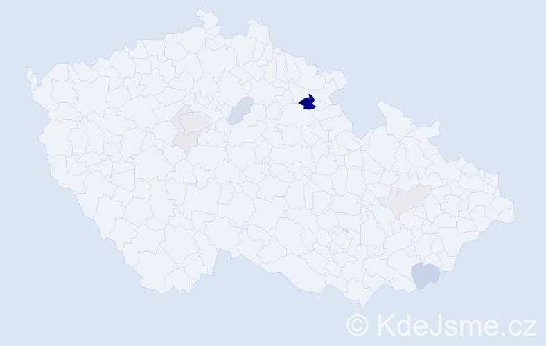 Příjmení: 'Holínský', počet výskytů 20 v celé ČR