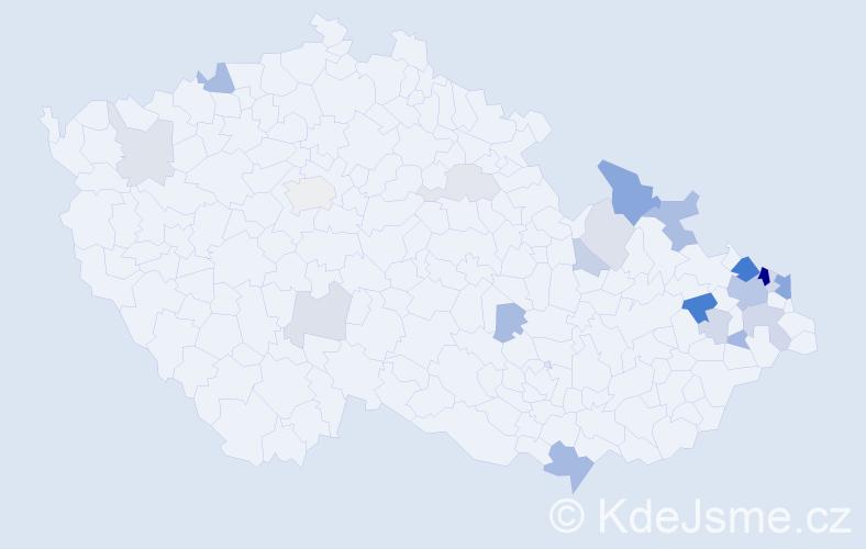 Příjmení: 'Gonsiorová', počet výskytů 56 v celé ČR