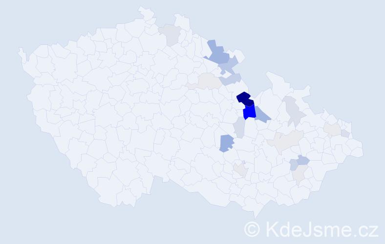 Příjmení: 'Killar', počet výskytů 58 v celé ČR