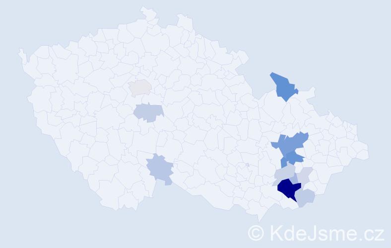 Příjmení: 'Ilíková', počet výskytů 37 v celé ČR