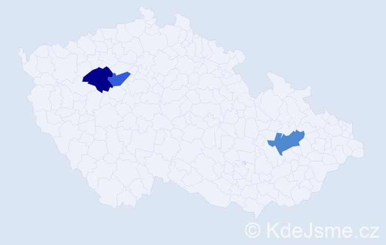 Příjmení: 'Malivová', počet výskytů 3 v celé ČR
