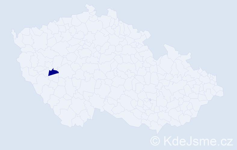 """Příjmení: '""""Česalová Bažantová""""', počet výskytů 1 v celé ČR"""