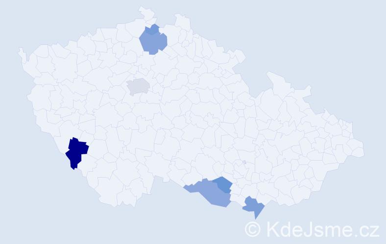 Příjmení: 'Halášek', počet výskytů 15 v celé ČR