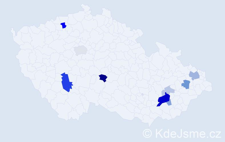 Příjmení: 'Chrenščová', počet výskytů 26 v celé ČR