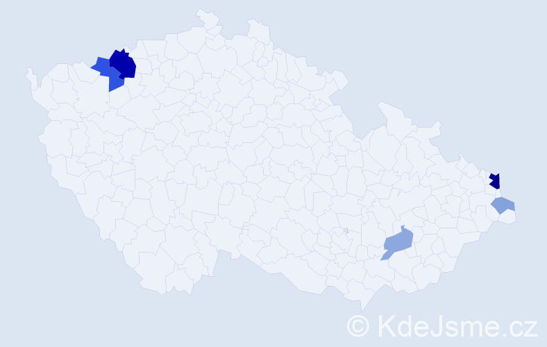 Příjmení: 'Hassl', počet výskytů 14 v celé ČR