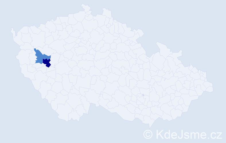Příjmení: 'Dudkovská', počet výskytů 6 v celé ČR