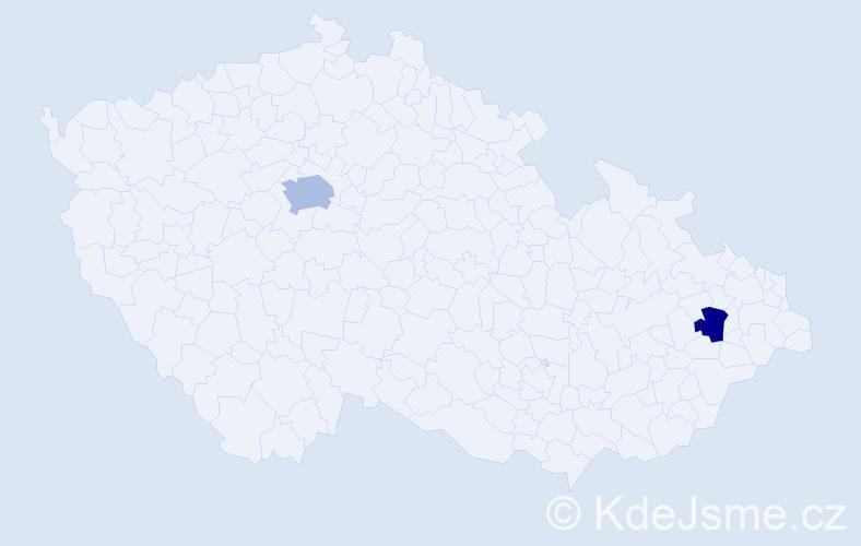 Příjmení: 'Erićová', počet výskytů 3 v celé ČR