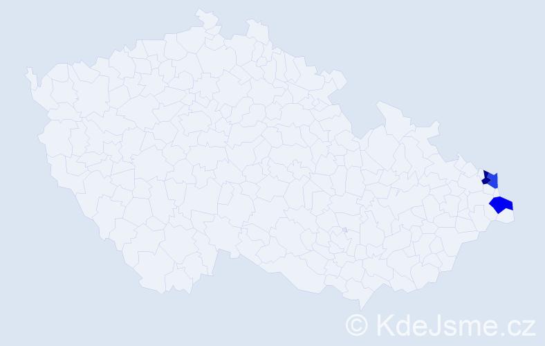 Příjmení: 'Granieczná', počet výskytů 3 v celé ČR