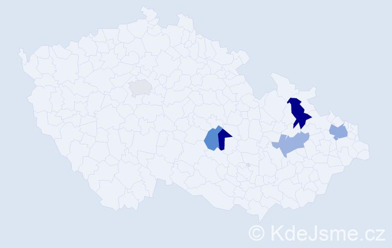 Příjmení: 'Čatloš', počet výskytů 8 v celé ČR