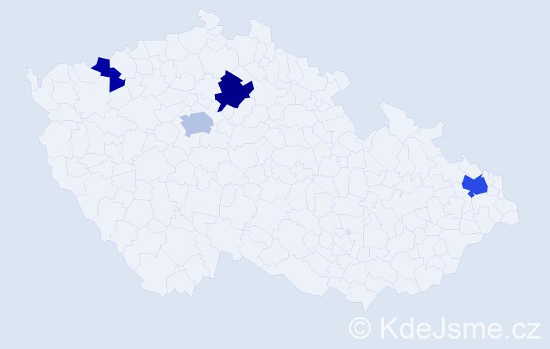 Příjmení: 'Hathaway', počet výskytů 8 v celé ČR