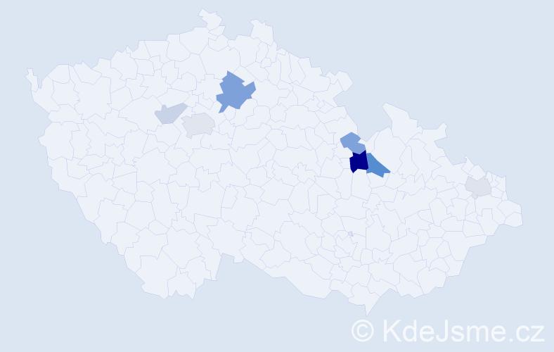 Příjmení: 'Karnová', počet výskytů 14 v celé ČR