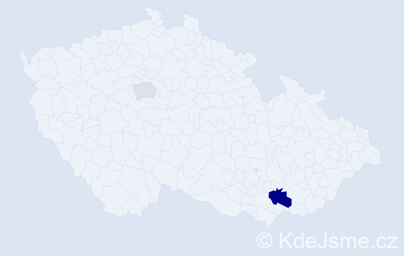 Příjmení: 'Bratkovič', počet výskytů 3 v celé ČR