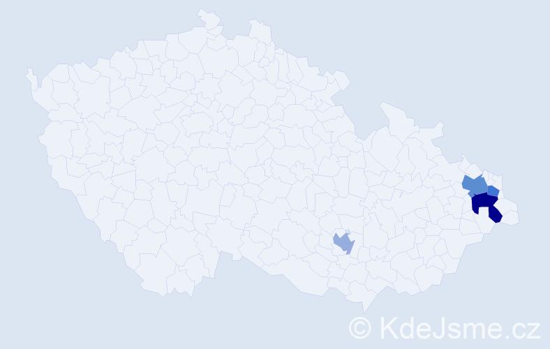 Příjmení: 'Laimar', počet výskytů 6 v celé ČR
