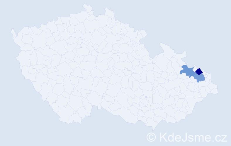 Příjmení: 'Holuscha', počet výskytů 13 v celé ČR