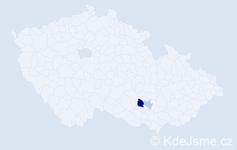 Příjmení: 'Hakobjanová', počet výskytů 3 v celé ČR