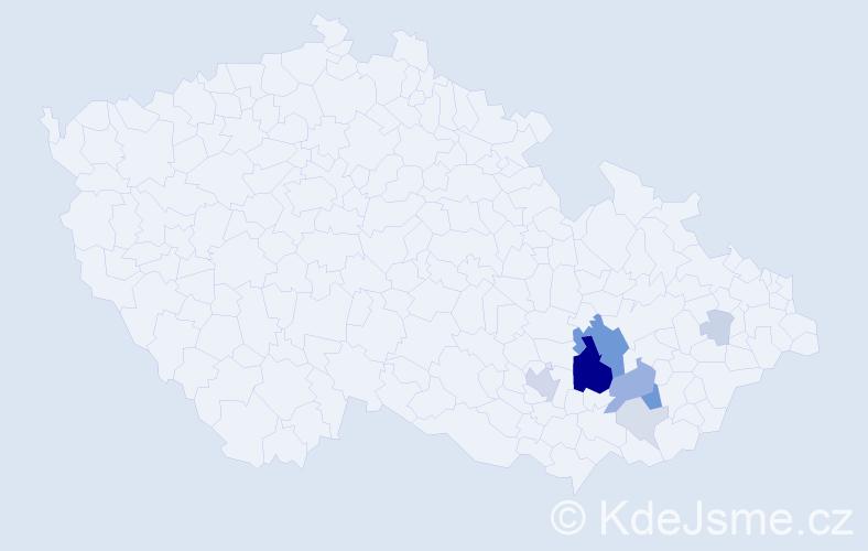 Příjmení: 'Kaláčková', počet výskytů 32 v celé ČR