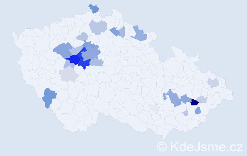 Příjmení: 'Ejem', počet výskytů 110 v celé ČR