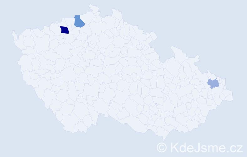 Příjmení: 'Kočíšková', počet výskytů 4 v celé ČR