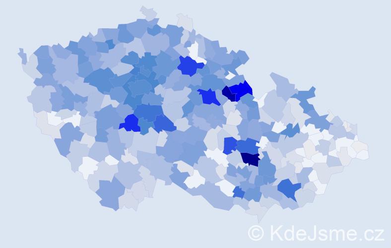 Příjmení: 'Hlaváček', počet výskytů 3478 v celé ČR