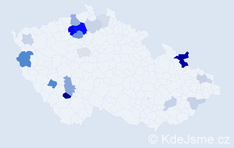 Příjmení: 'Ebelová', počet výskytů 46 v celé ČR