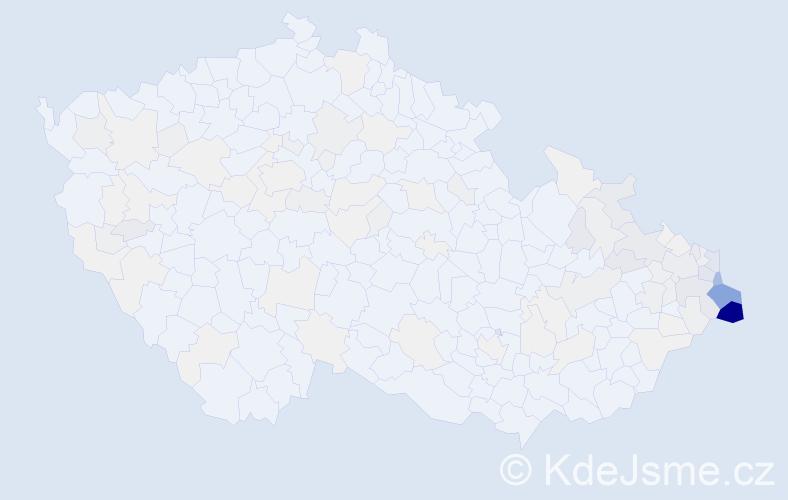 Příjmení: 'Byrtus', počet výskytů 745 v celé ČR