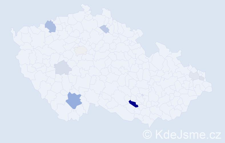 Příjmení: 'Krýdl', počet výskytů 22 v celé ČR