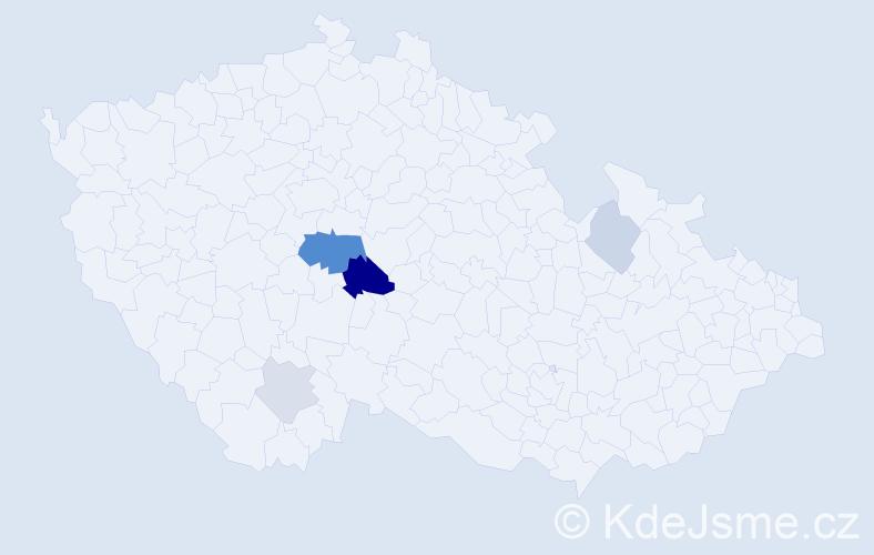 Příjmení: 'Hampešt', počet výskytů 12 v celé ČR