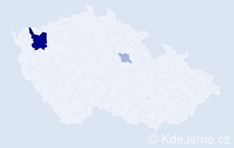Příjmení: 'Fassel', počet výskytů 12 v celé ČR