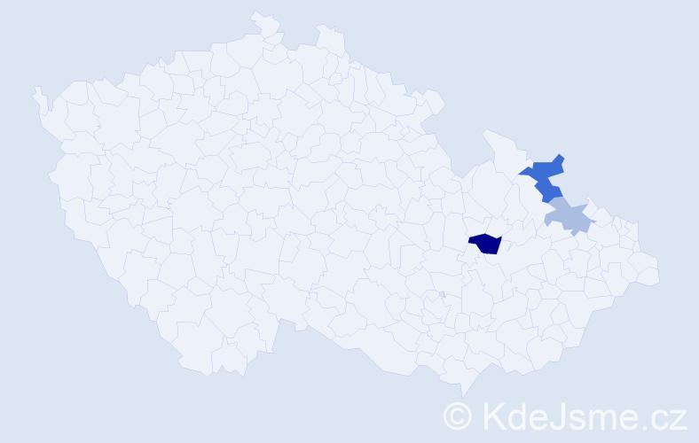 Příjmení: 'Kelichhausová', počet výskytů 5 v celé ČR