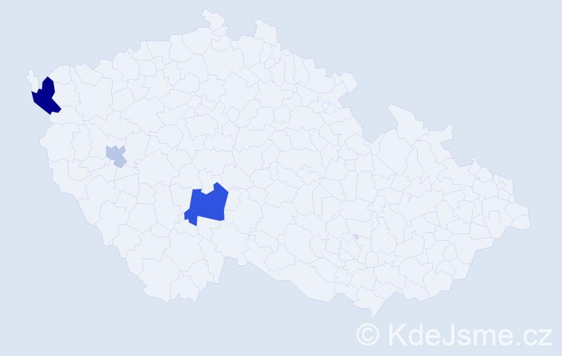 Příjmení: 'Iterský', počet výskytů 15 v celé ČR