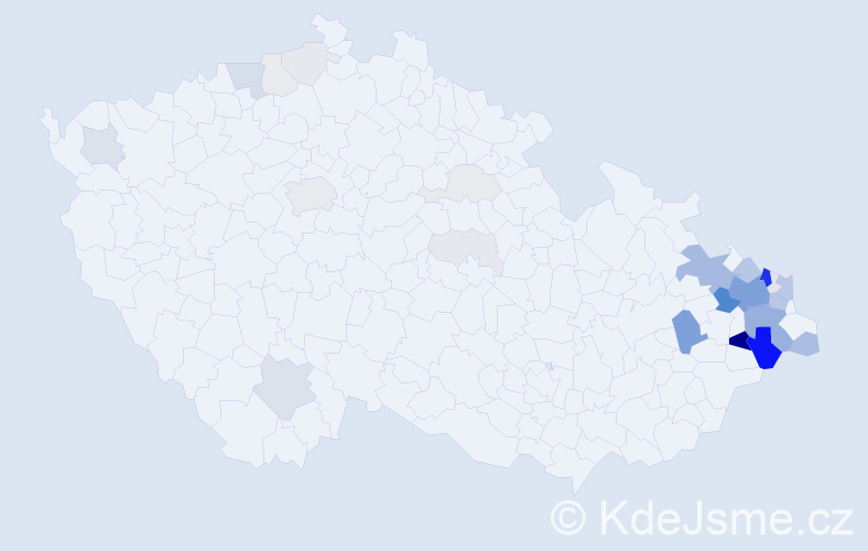 Příjmení: 'Bialek', počet výskytů 140 v celé ČR