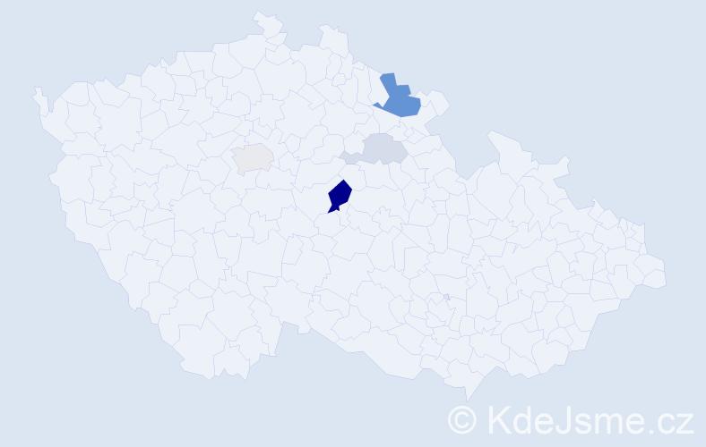Příjmení: 'Kluhová', počet výskytů 11 v celé ČR