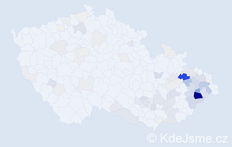 Příjmení: 'Halamíčková', počet výskytů 250 v celé ČR