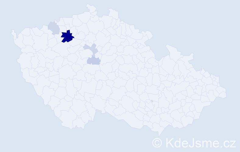 Příjmení: 'András', počet výskytů 22 v celé ČR