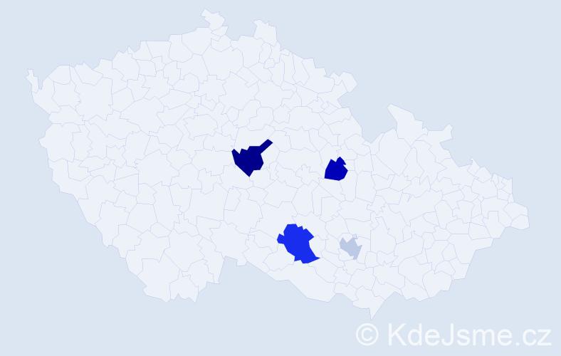 Příjmení: 'Lépešová', počet výskytů 6 v celé ČR