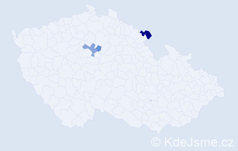 Příjmení: 'Effenberg', počet výskytů 5 v celé ČR
