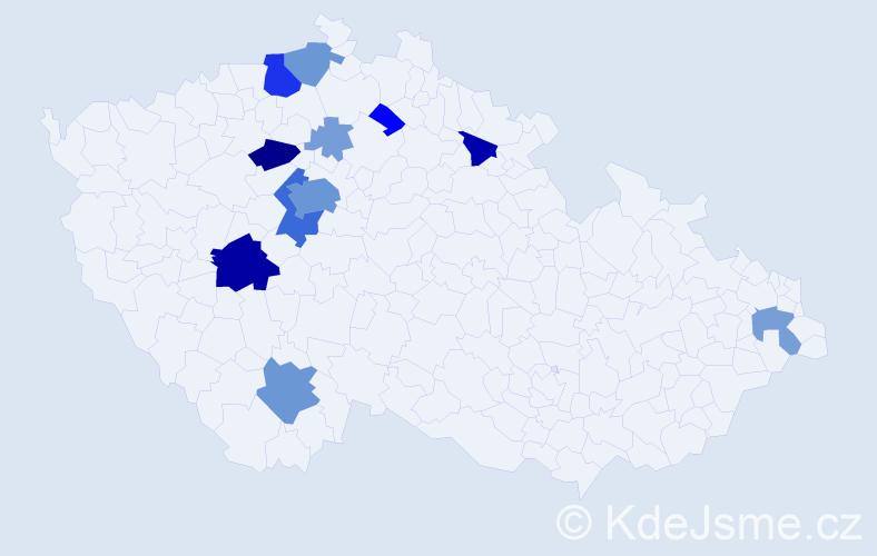Příjmení: 'Kramosilová', počet výskytů 47 v celé ČR