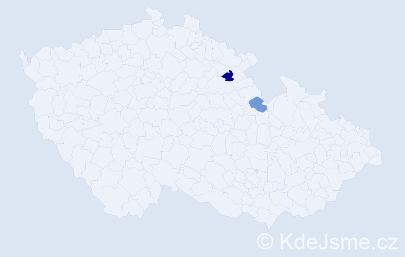 Příjmení: 'Evaničová', počet výskytů 3 v celé ČR