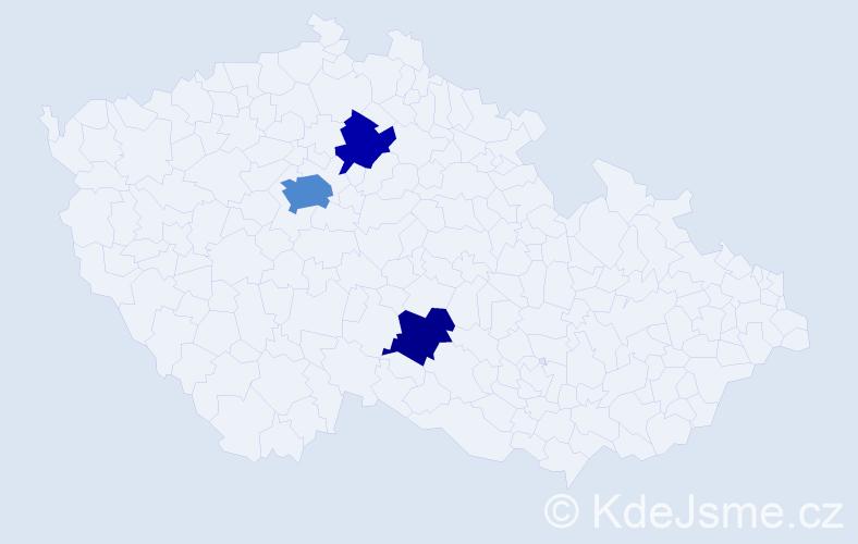 Příjmení: 'Karst', počet výskytů 6 v celé ČR