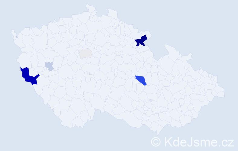 Příjmení: 'Leeder', počet výskytů 11 v celé ČR