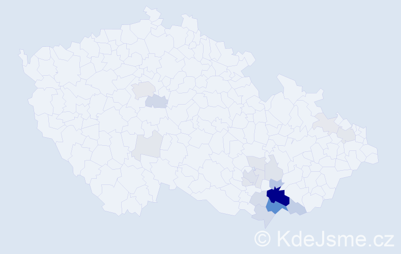 Příjmení: 'Bimka', počet výskytů 71 v celé ČR