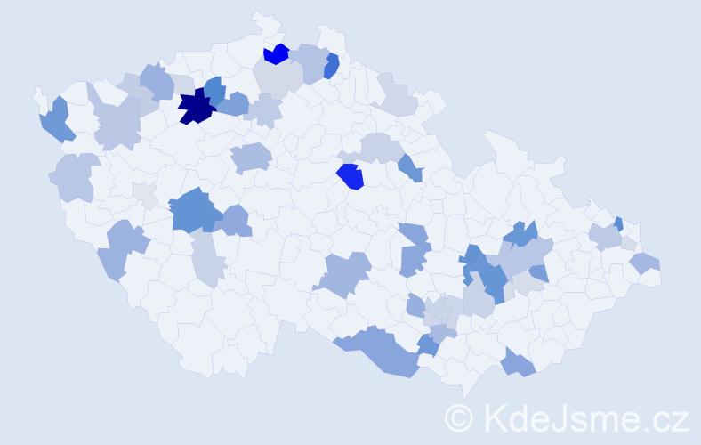 Příjmení: 'Funk', počet výskytů 132 v celé ČR