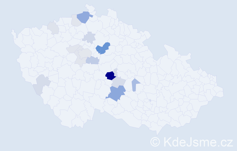Příjmení: 'Labuta', počet výskytů 43 v celé ČR