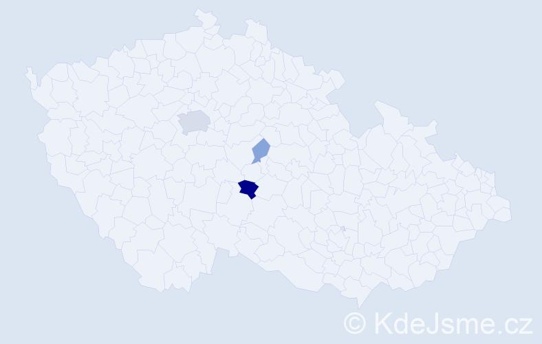 Příjmení: 'Arnot', počet výskytů 10 v celé ČR